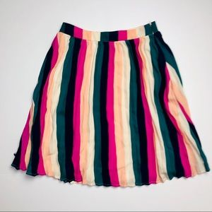 Gibson PXS rainbow pride stripe pleated skirt